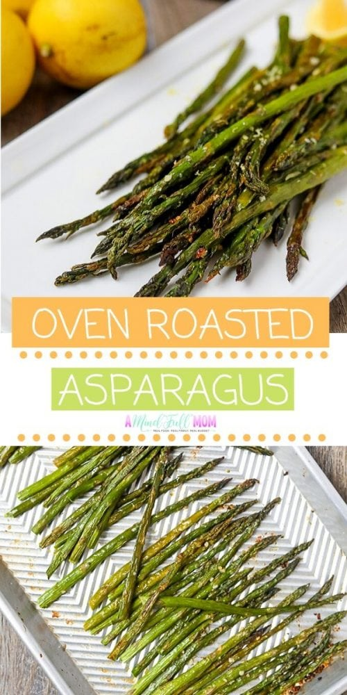 This is the best Oven Roasted Asparagus. Made with olive oil, garlic, and Parmesan cheese, this simple side dish is absolutely delicious. It is the absolute best way to prepare Asparagus and it is the best vegetable side dish.