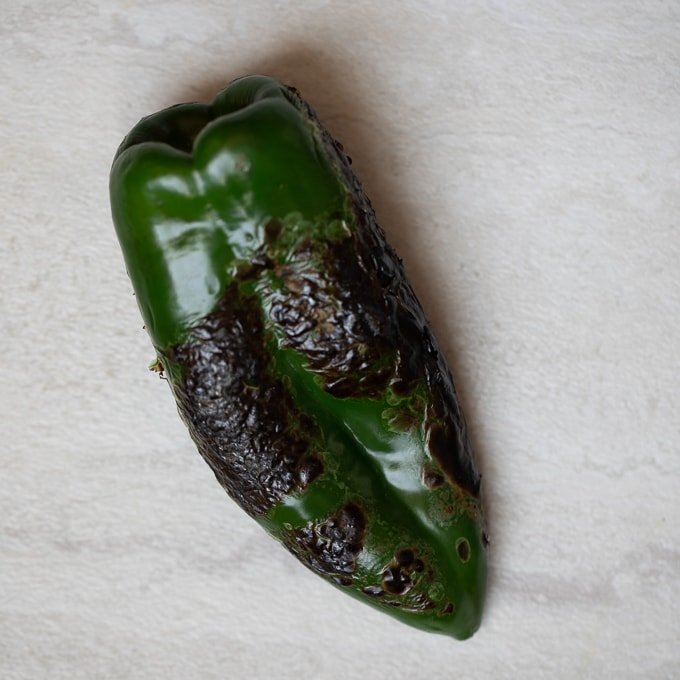 Charred Poblano Pepper