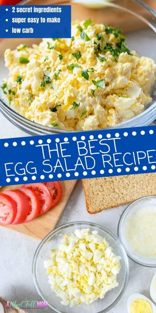 Think Egg Salad needs to be boring? Think again! A classic recipe for egg salad has been kicked up a few notches with a few secret ingredients. This Egg Salad is full of flavor, easy to make, and makes the most perfect Egg Salad sandwich. Whether you are looking for a high protein, easy, low-cost lunch, or a way to use up all those extra hard-boiled eggs from Easter --egg salad is a FABULOUS option.