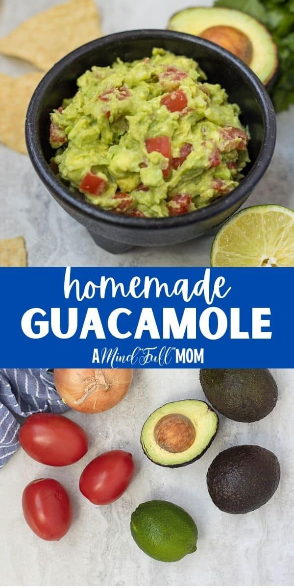 This is the BEST Guacamole Recipe. My easy guacamole recipe requires just a few simple ingredients and comes from an authentic Mexican restaurant. Homemade guacamole is a delicious appetizer, healthy snack, or great topping for any Mexican dish. and perfect for healthy snacks.
