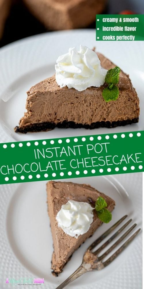 Instant Pot Chocolate Cheesecake is simply the best recipe for chocolate cheesecake. It is decadent, luscious, creamy and cooks perfectly in the instant pot. From the chocolate cookie crust, to the rich creamy chocolate filling, this cheesecake is perfection and perfect for anyone who loves chocolate.
