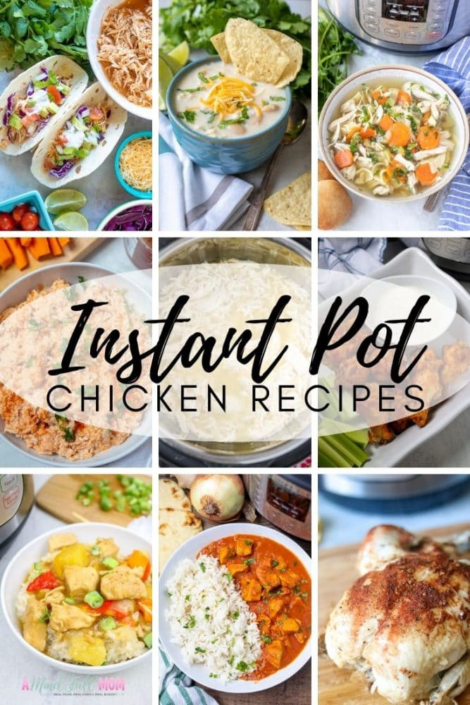 These are the best tried and true Instant Pot Chicken Recipes! Whether frozen or fresh, from Instant Pot Chicken Breast Recipes to Instant Pot Chicken Thigh Recipes, to soups and chili, you are sure to find a healthy recipe for chicken that will be perfect for cooking in your Instant Pot tonight! If you want to make perfect instant pot chicken, follow my tips and give these recipes a try--you won't be disappointed.
