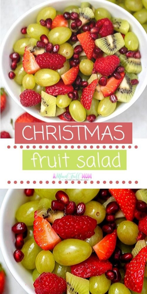 This winter fruit salad is a colorful variety of fresh fruit tossed honey lime dressing that marries this fruit together perfectly. Super festive with red and green fruits, this healthy fruit salad is perfect for Christmas.