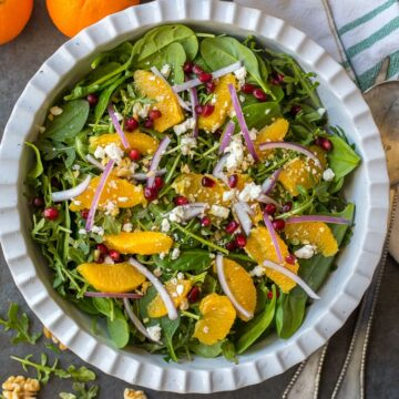 Holiday Salad in white bowl