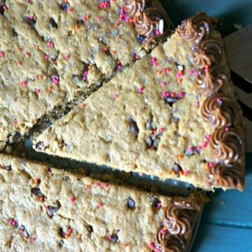 Slice of Cookie Cake