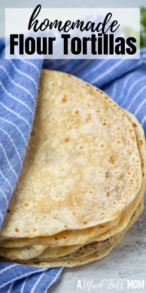 Homemade Tortillas are simply the best way to enjoy tortillas! Made with only 4 ingredients and less effort than you may think, these fresh flour tortillas, are soft, tender, and absolutely delicious. Homemade Tortillas will make all your Mexican dishes taste better.