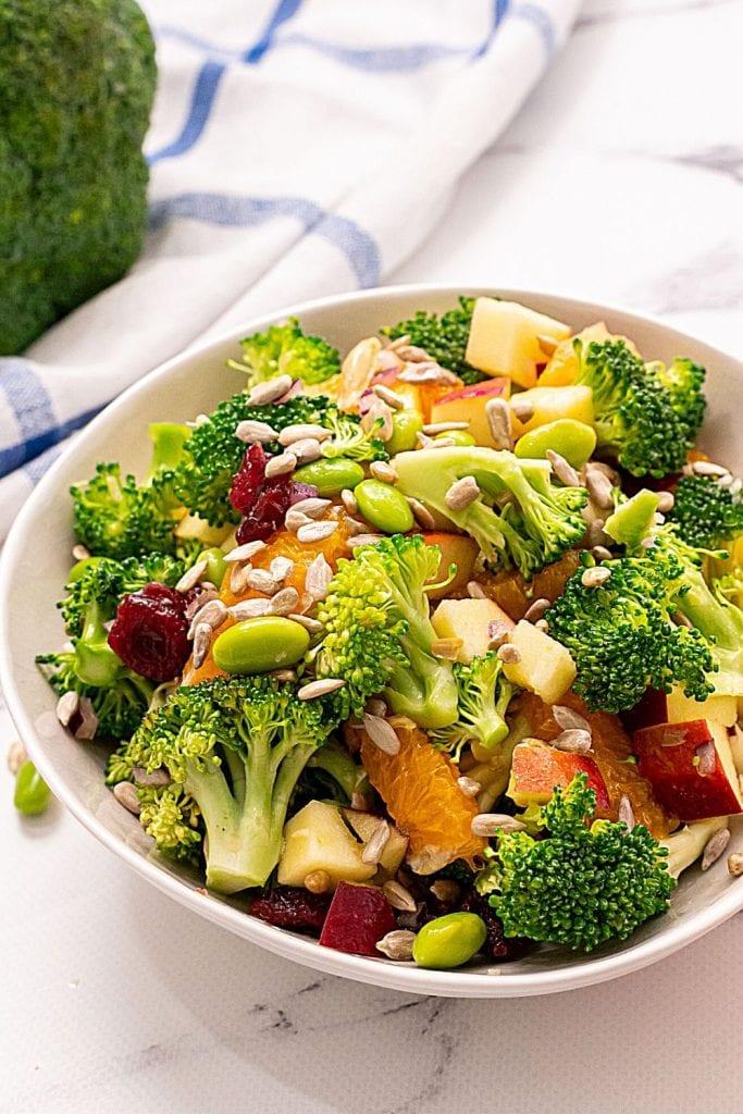 Healthy Broccoli Salad No Mayo A Mind Full Mom