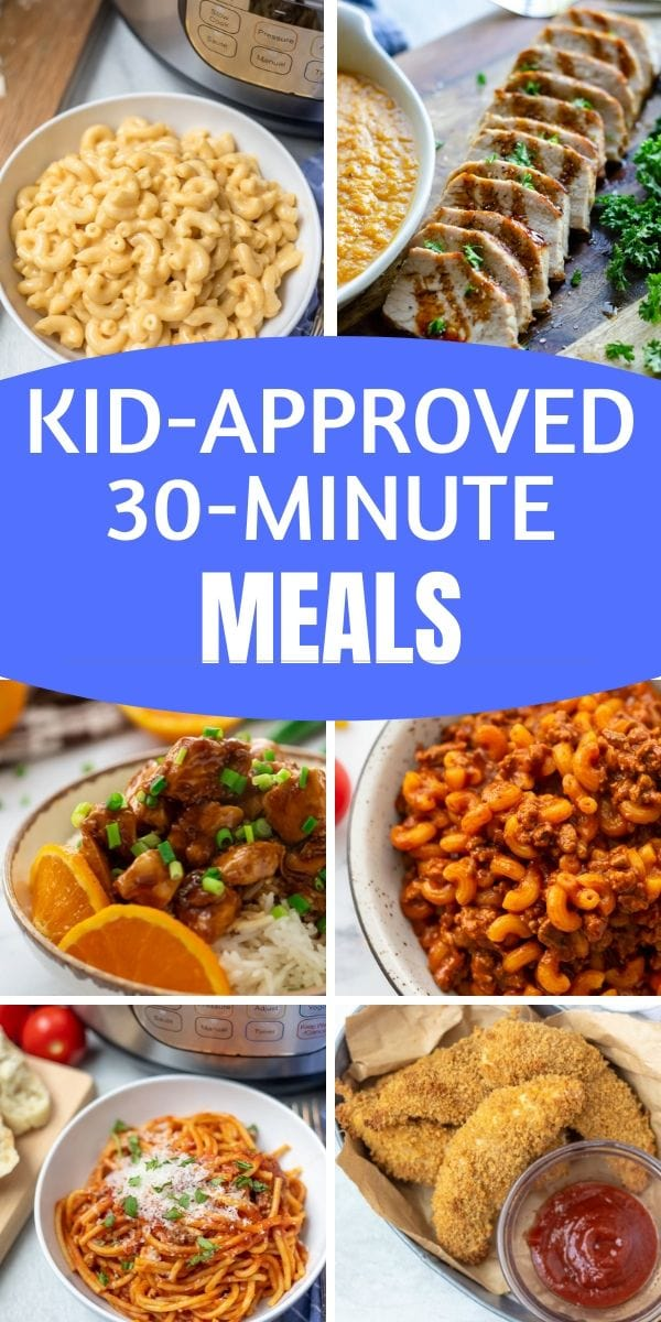 You are going to want to bookmark these Healthy 30 Minute Meals. This collection of quick and easy 30 minute meals is perfect for families--even families with picky eaters! There is no excuse to not eat a home-cooked healthy meal when dinner can be ready so quickly.