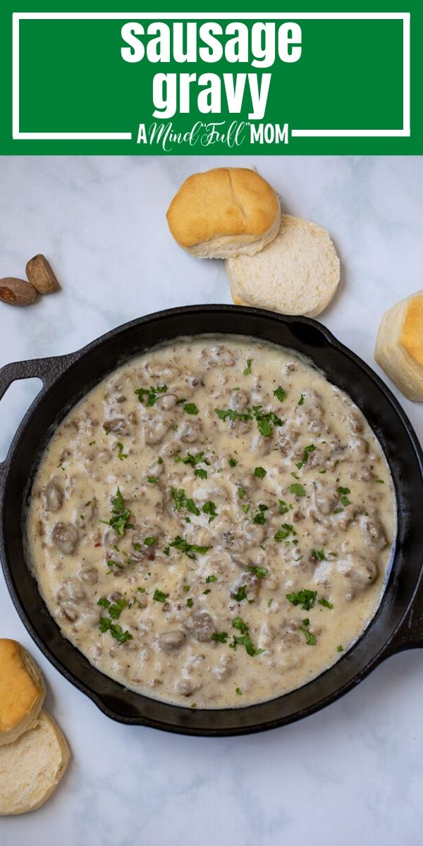 The BEST recipe for sausage gravy made with just a few simple ingredients and in less than 30 minutes. This is stick to your ribs classic comfort food.
