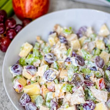 Bowl of creamy chicken salad