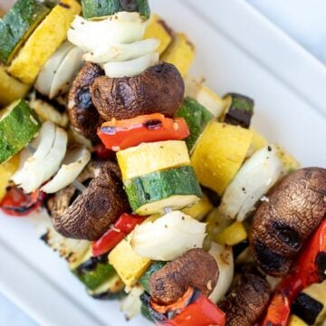 Close up of Grilled Vegetable Kabob