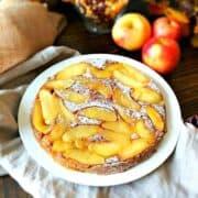 Apple Pumpkin Cake on White Platter