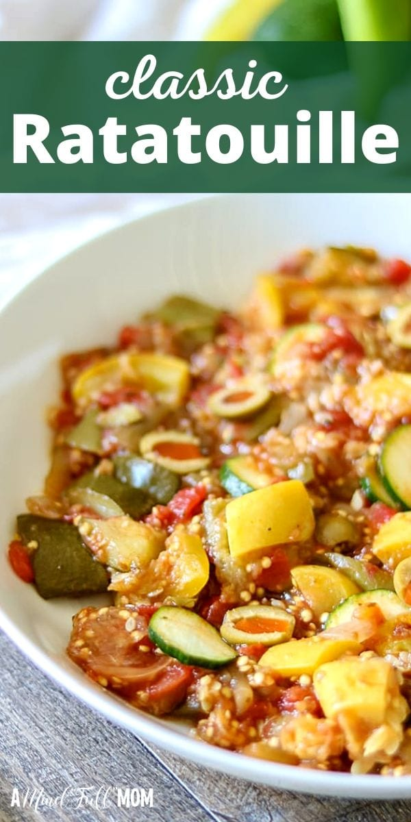 Ratatouille is a classic French vegetable stew that is both hearty and healthy. This Easy Ratatouille Recipe is rich in flavor, gluten-free, vegetarian, and absolutely delicious!