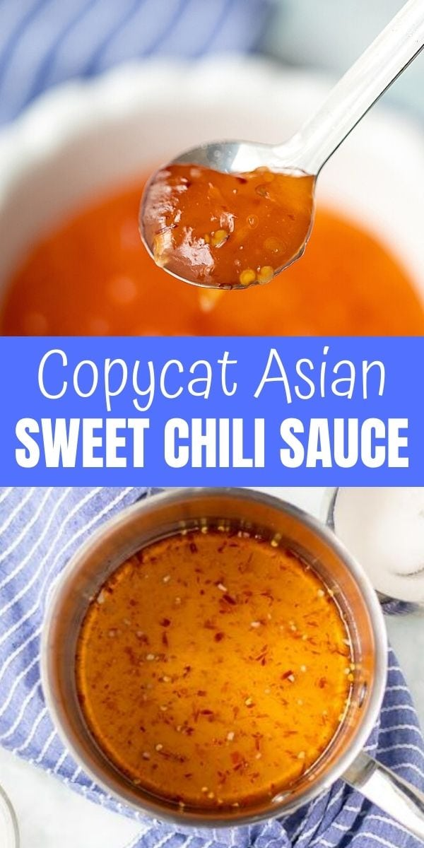 Made with only 5 ingredients, this recipe for Sweet Chili Sauce is an exact replica of store-bought Asian Chili Sauce. It is a little bit sweet, a little bit spicy, and can be used in a variety of ways.It is a simple recipe that is not only more affordable to make at home, but tastes so much better!