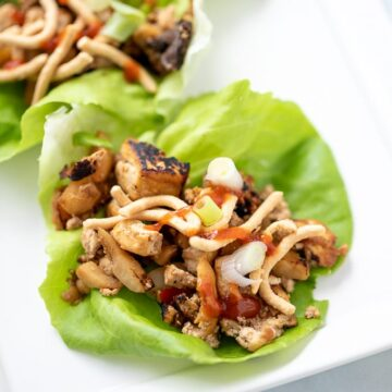 Lettuce Cup filled with Asian Tofu Mixture