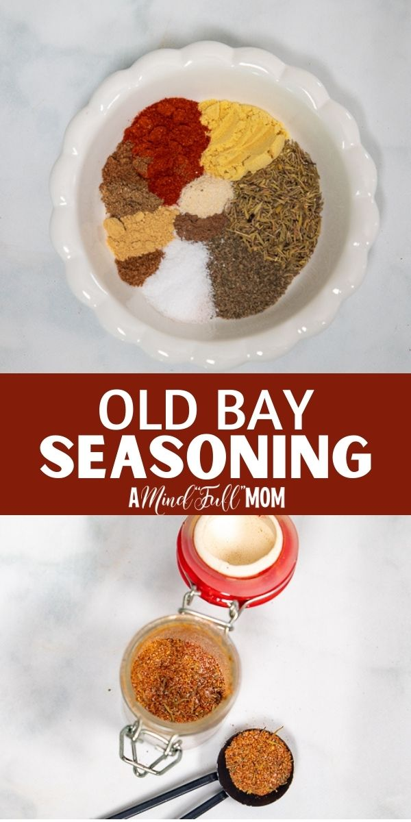 This Homemade Old Bay Seasoning Recipe is the perfect substitute for McCormick's famous blend. Made with a unique blend of spices, Old Bay Seasoning is perfect on seafood, roasted vegetables, and so much more!