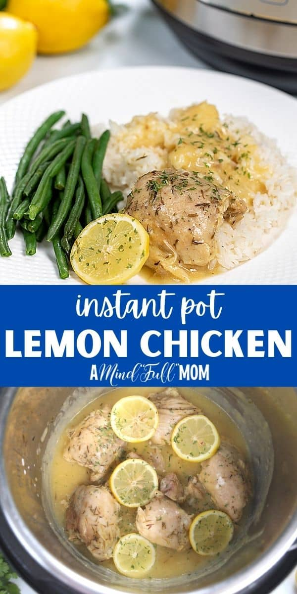 When you are looking for an easy recipe for chicken breasts or chicken thighs, this Instant Pot Lemon Chicken fits the bill! Instant Pot Lemon Garlic Chicken is a simple, easy recipe for chicken thighs or chicken breasts that is packed full of flavor. Ready in less than 30 minutes, the chicken cooks up to tender perfection in a delicious lemon garlic sauce.