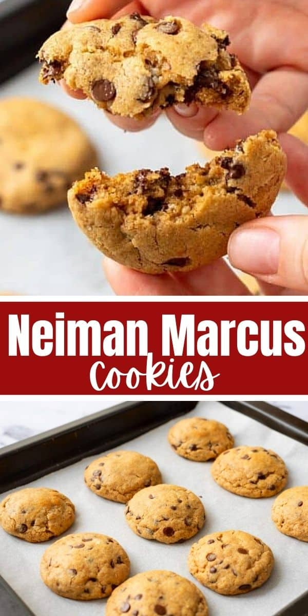 This is the AUTHENTIC recipe for the famous Neiman Marcus Cookies! These cookies are made with 3 types of chocolate, blended oats, and blended walnuts for s the BEST version of a chocolate chip cookie EVER! It is a must have Christmas cookie--but is perfect all year long!