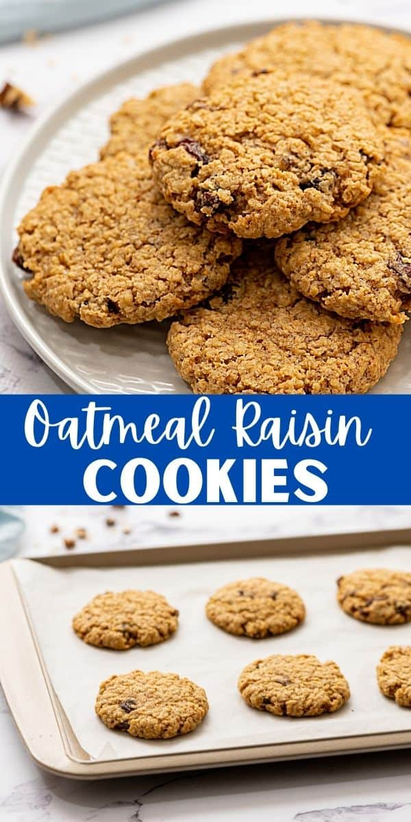 This is the ULTIMATE Oatmeal Raisin Cookie Recipe! Perfectly tender, perfectly sweet, and a little bit chewy! Not only are these cookies easy to make, and delicious, the cookie dough also freezes great so that you can enjoy a warm, freshly-baked cookie whenever the craving strikes!