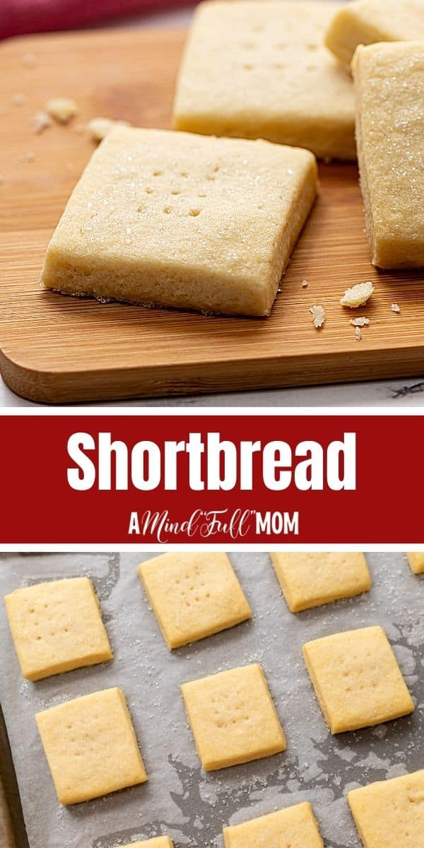 Shortbread Cookies are made with only 5 simple ingredients to create a tender, flaky, buttery cookie that is melt-in-your-mouth delicious.