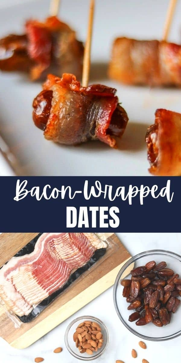 Bacon-wrapped dates, also known as Devils on Horseback, are a simple, 3-ingredient appetizer that is the perfect contrast of flavors and textures.
