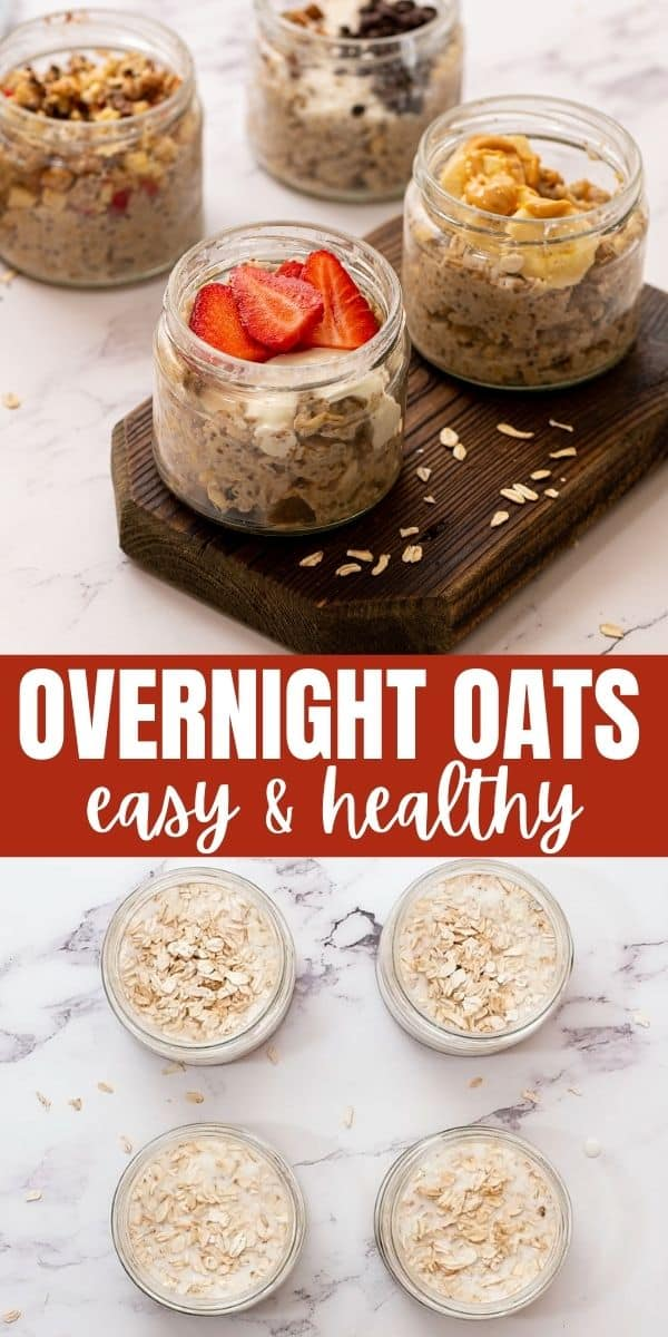 Simple, healthy recipe for Overnight Oats with 10 varieties.