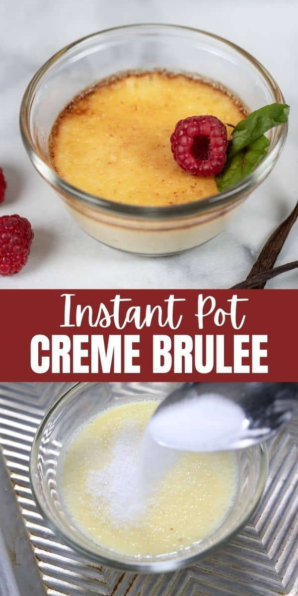 Creme brulee has never been easier to make at home! This recipe for Instant Pot Creme Brulee comes together in minutes and is baked to creamy perfection in the moist heat of the Instant Pot.