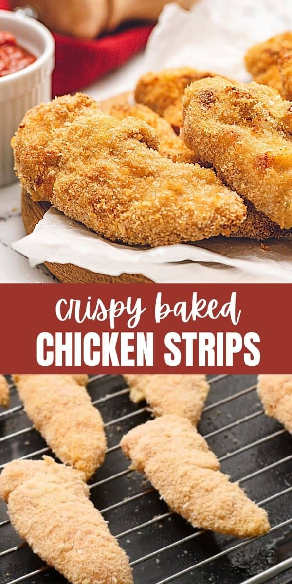 Made with a crunchy panko breading and baked until crispy, these Chicken Tenders are juicy, flavorful, crispy, and ready in less than 30 minutes!