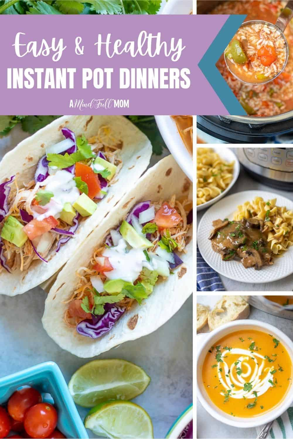 If you are looking for the BEST Instant Pot recipes--this is for you! Make dinner fast and healthy with these Instant Pot recipes. This is a collection of 20 healthy Instant Pot recipes that are perfect for a fast, yet wholesome dinner.