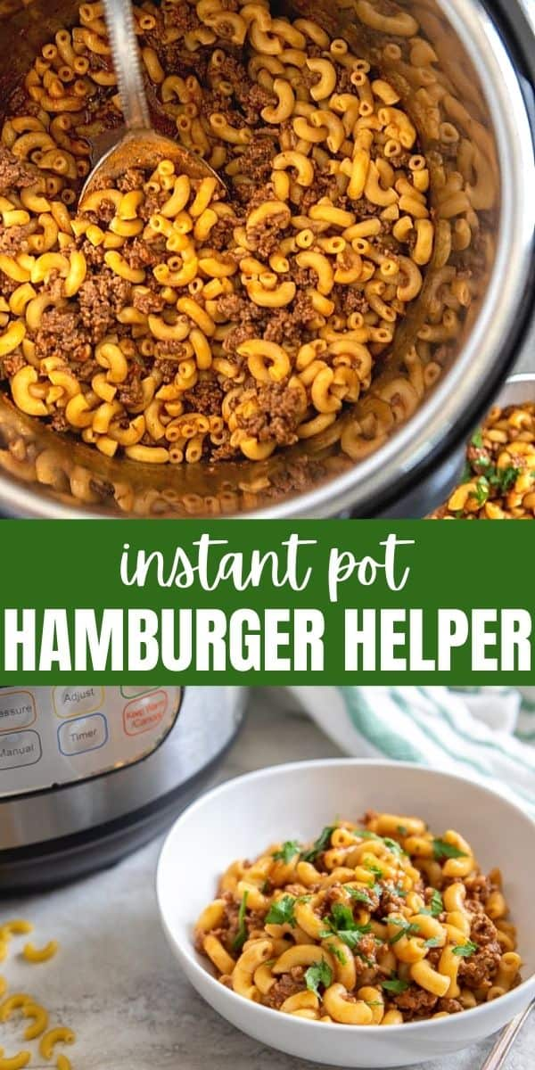 Ditch the box and make this Instant Pot Hamburger Helper just as easily! This all-in-one recipe for Hamburger Helper is a tastier, healthier version of the classic boxed staple and is ready in less than 30 minutes from start to finish!