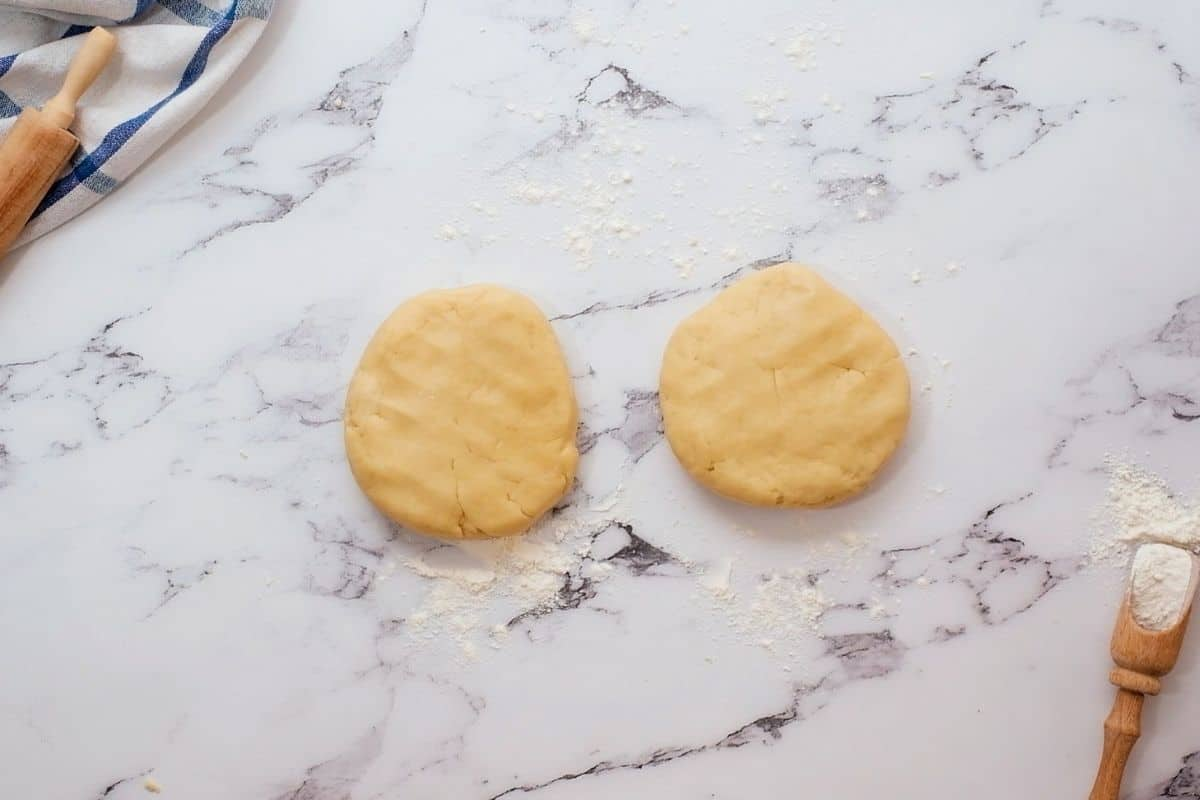 Pie Dough divided into 2 equal size