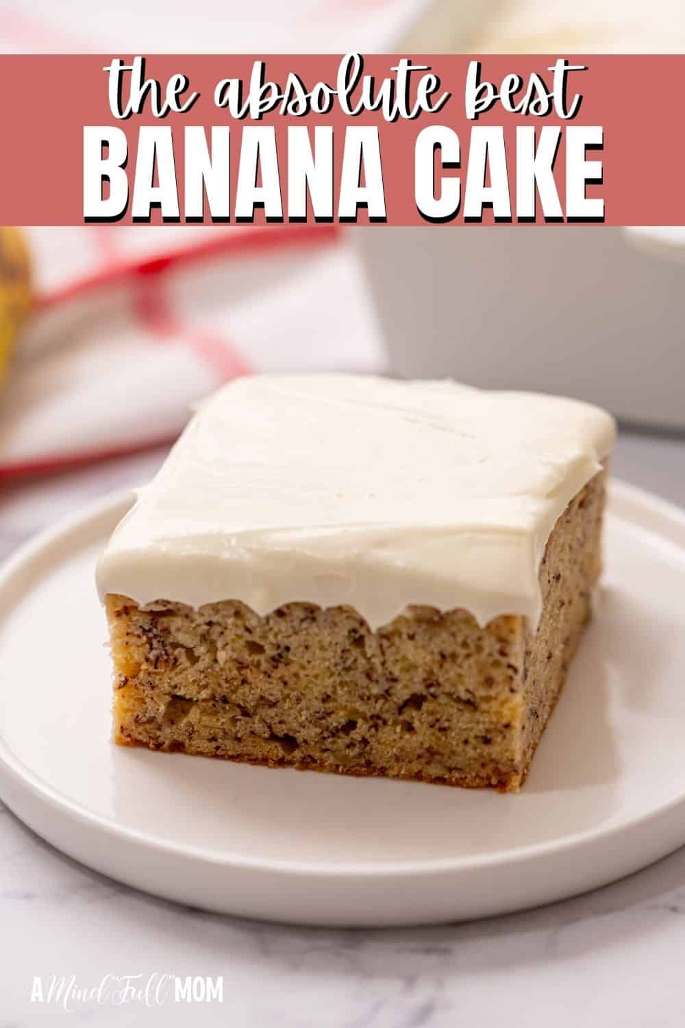 Soft, light, and full of banana flavor, this Sour Cream Banana Cake is the BEST banana cake ever! Finished with a thick layer of cream cheese icing, this easy recipe makes an irresistible dessert!