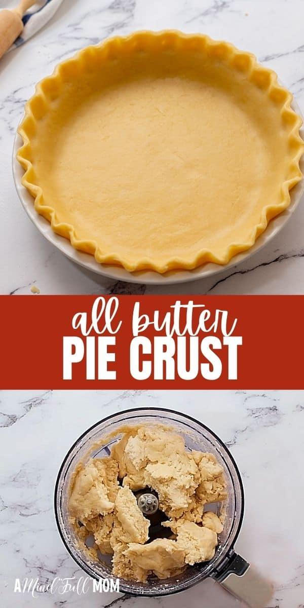 This Homemade Pie Crust is made with all butter, yet is light, flaky, tender, and is the perfect base for sweet and savory pies. It is super easy to make and will make your pies so much better tasting.