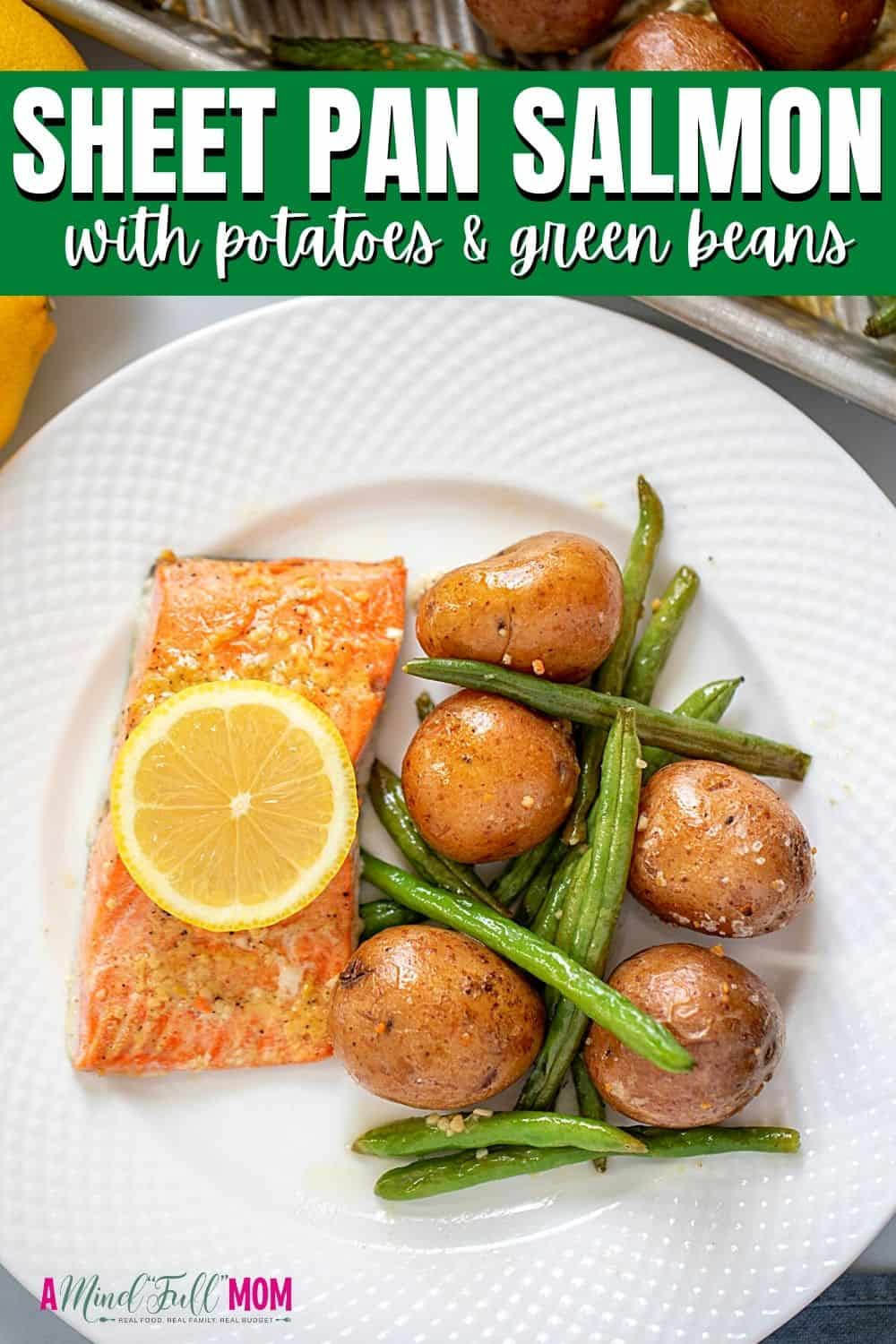 Sheet Pan Salmon, made with potatoes, green beans, and a honey garlic glaze, makes getting a delicious, elegant family meal on the table with minimal effort. It is fast enough for a weeknight meal, yet impressive enough for a special occasion.