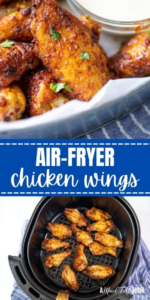 Air Fryer Chicken Wings are juicy, crispy, tender, and delicious, and much better for you than deep-fried wings! The homemade rub is a little spicy, a little sweet, and perfectly savory, and gives the chicken so much flavor, they don't need to even be tossed in a sauce. And the wings turn out perfectly crispy every time--just like they were fried!