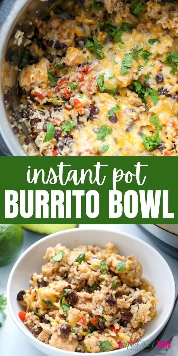 Made with chicken, beans, rice, and perfectly seasoned, Instant Pot Burrito Bowls are better-tasting and much more affordable than take-out!