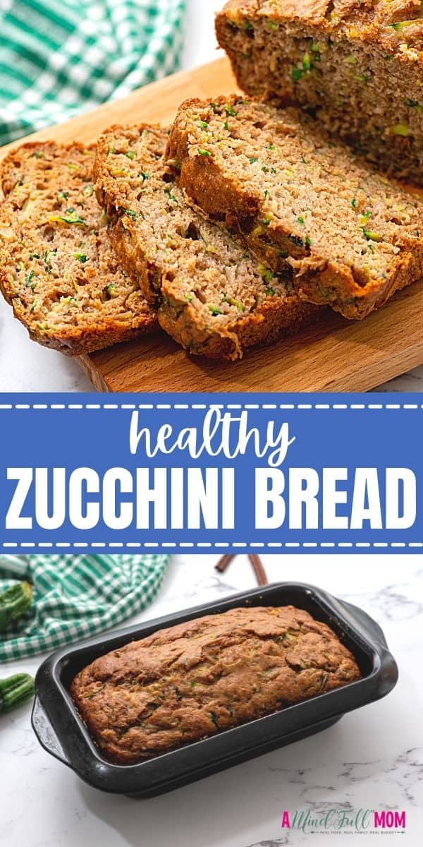 This Healthy Zucchini Bread is made with fresh zucchini, whole wheat flour, and is lower in sugar and fat than other zucchini bread recipes, yet 100% delicious.