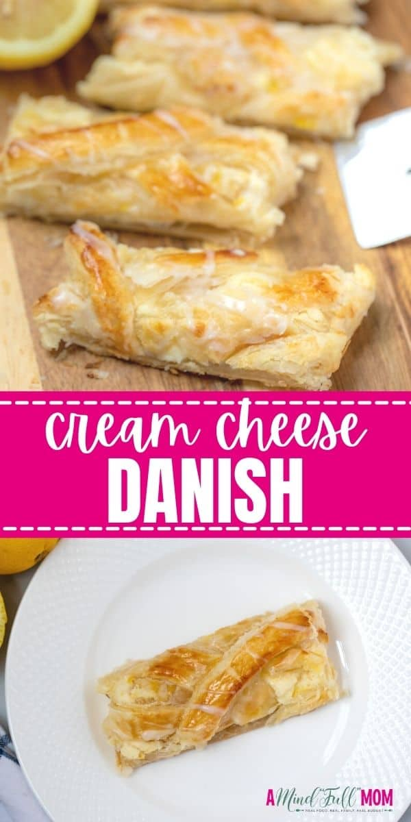 From the flaky, buttery pastry, to the sweet creamy filling, to the bright lemon glaze, this Cream Cheese Danish is out-of-this-world good. This danish is easy to make, can be flavored in a variety of different ways, and has show-stopping appeal! While it looks impressive and seems complicated to make at home, with a few short-cuts this danish couldn't be easier to make.
