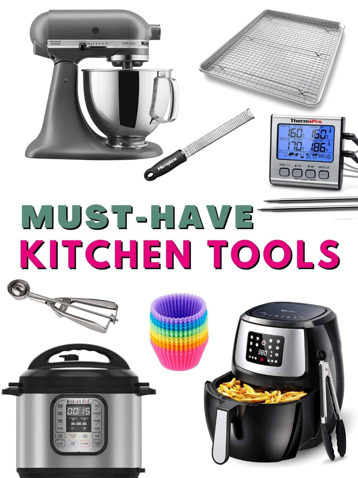 This is the ultimate guide to all my favorite kitchen essentials. From countertop appliances to tools, to pots and pans, these are my favorite kitchen products!