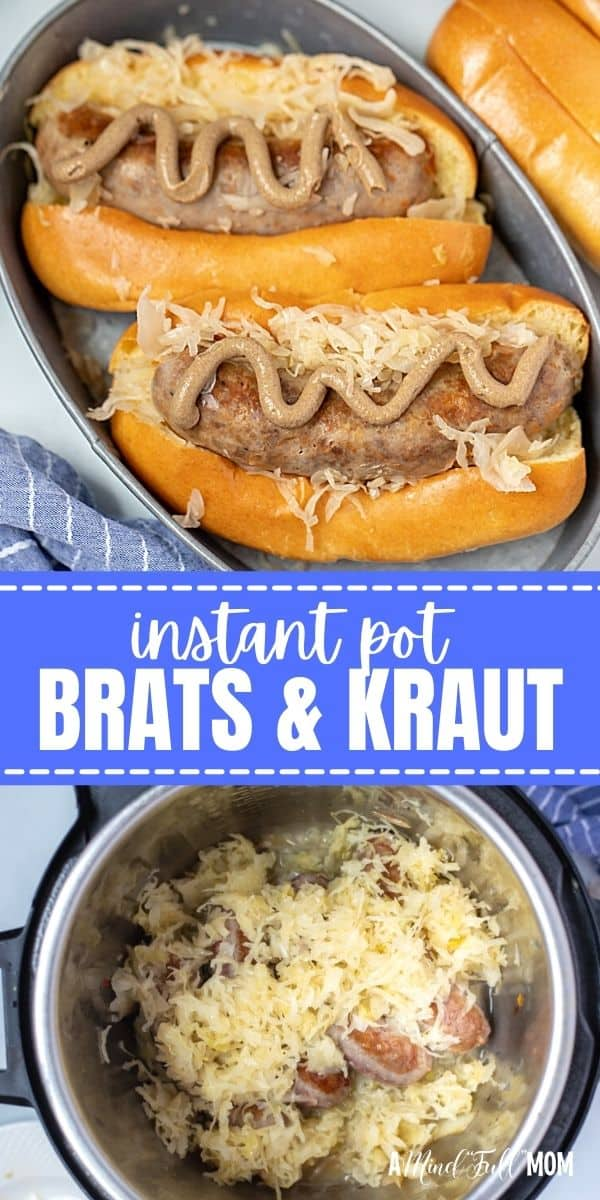 Made with beer, onions, and sauerkraut, Instant Pot Brats are one of the easiest and most flavorful ways to enjoy bratwurst. This quick, 4 ingredient recipe is perfect for a fast dinner or entertaining.