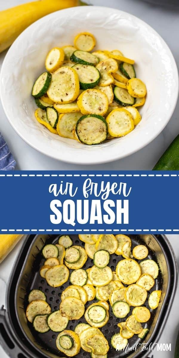 Air Fryer Squash is made with zucchini and summer squash that is seasoned to perfection and air-fried until tender and just golden.