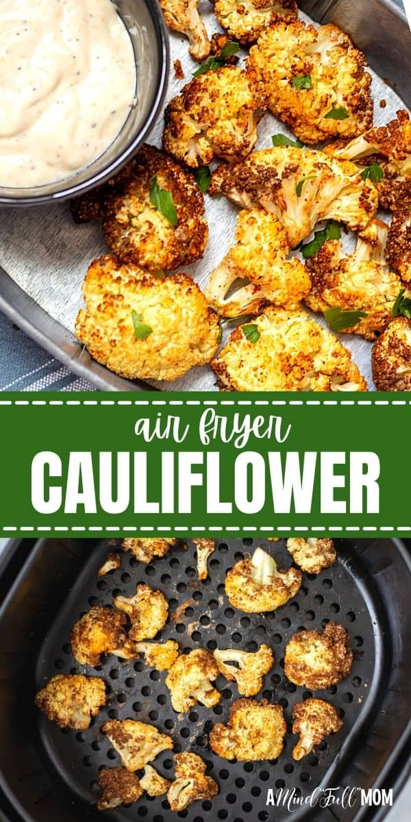 This recipe for Air Fryer Cauliflower is one of the easiest and most delicious ways to prepare cauliflower. Seasoned to perfection and then air-fried until golden and crispy, Air Fryer Cauliflower is downright delectable. Perfect served as an appetizer or a healthy side dish.