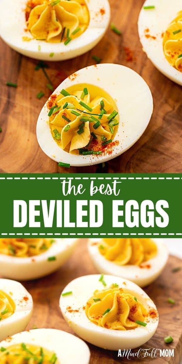 Deviled Eggs are a classic appetizer that is easy to make and always a crowd favorite. And this recipe for Deviled Eggs is the BEST! Made with one surprising ingredient, these Deviled Eggs feature a creamy, flavorful filling and are always the first to disappear!