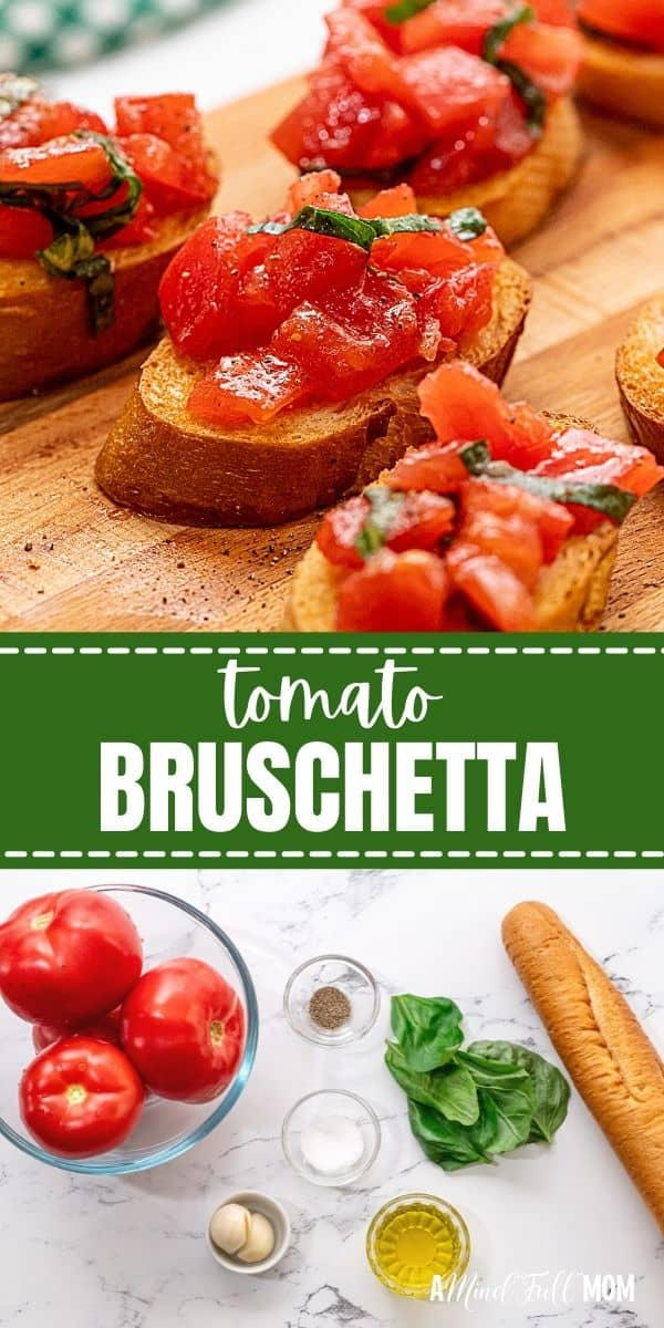 Made with fresh, ripe tomatoes, basil, and toasted bread, this easy recipe for Tomato Bruschetta makes a perfect appetizer for any gathering! It is light, healthy, and the perfect recipe for fresh tomatoes.