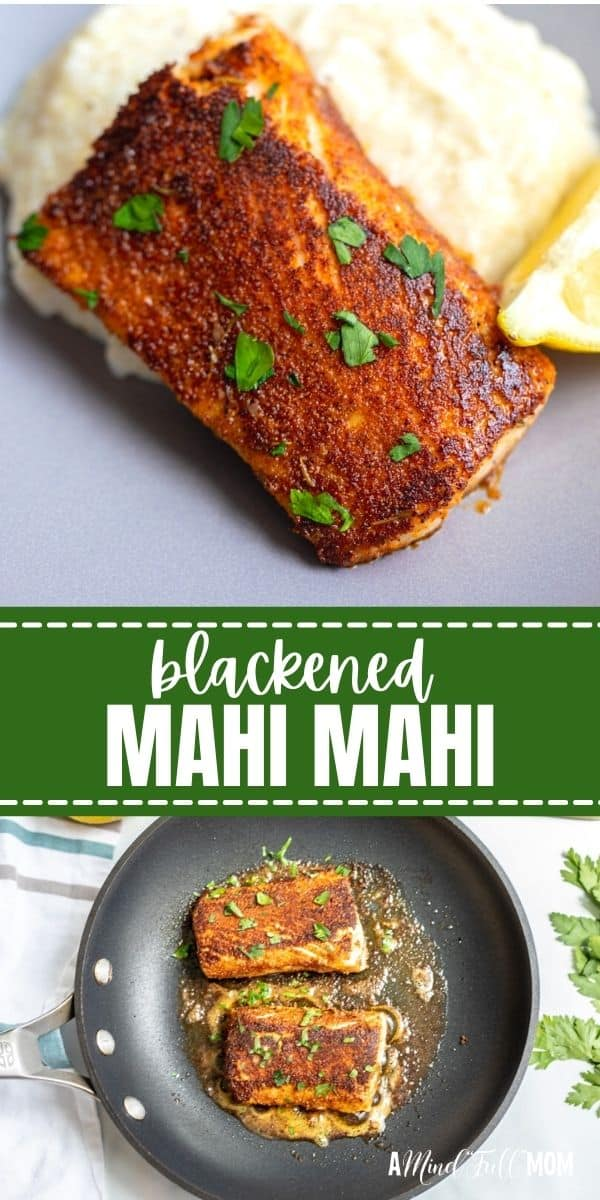 Blackened Mahi Mahi is an easy and flavorful way to enjoy a simple seafood dinner. Made with homemade cajun seasoning and quickly pan-seared, you can have this blackened fish on your table in less than 15 minutes.