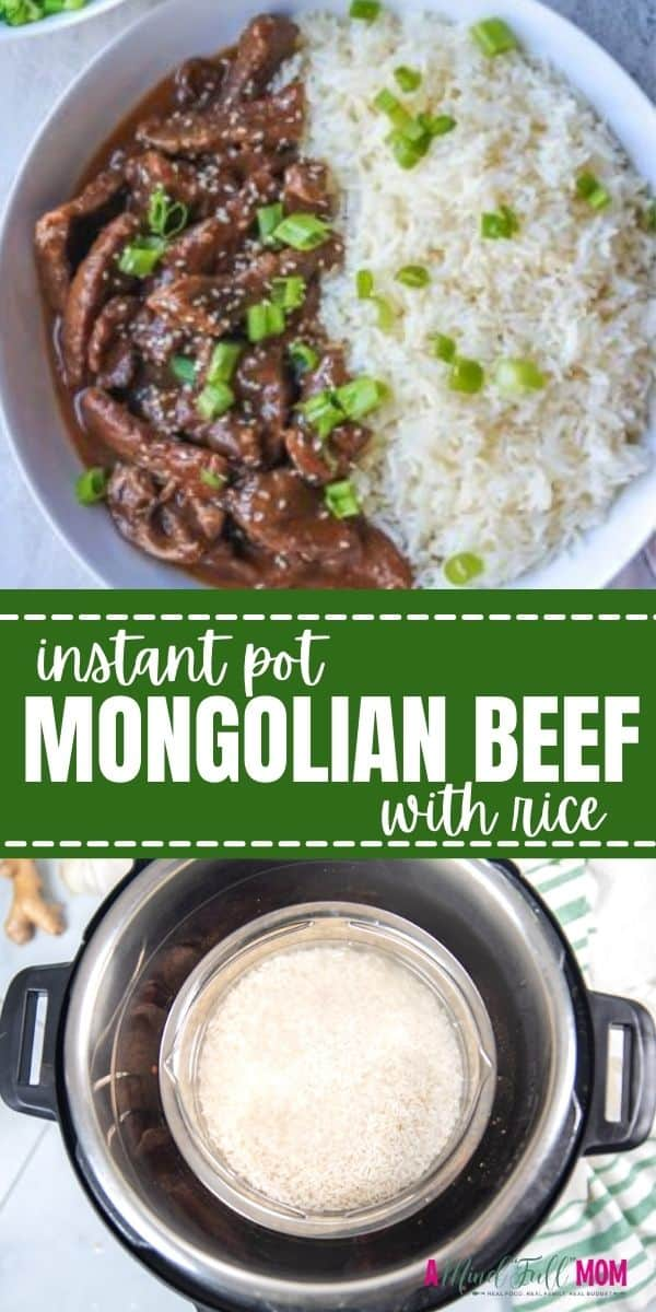 Instant Pot Mongolian Beef is an easy version of a restaurant favorite that can be on your table in less than 30 minutes! Made with a sweet and savory sauce, this recipe for Mongolian Beef is healthier than take-out but just as delicious.
