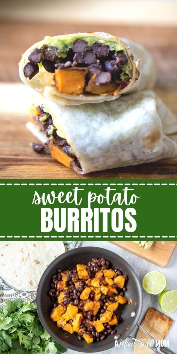 Filled with sweet potatoes, black beans, and southwestern spices, these easy Sweet Potato Burritos are hearty, filling, and wholesome!