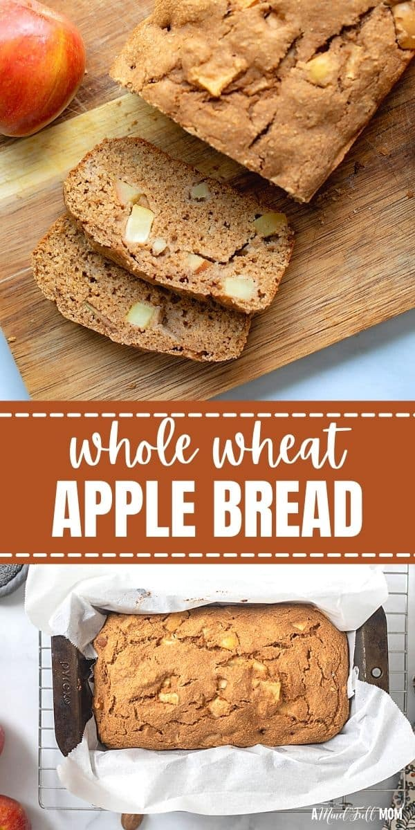 This Apple Cinnamon Bread is made with whole wheat flour, maple syrup, warming spices, and bursting with tender chunks of apples!