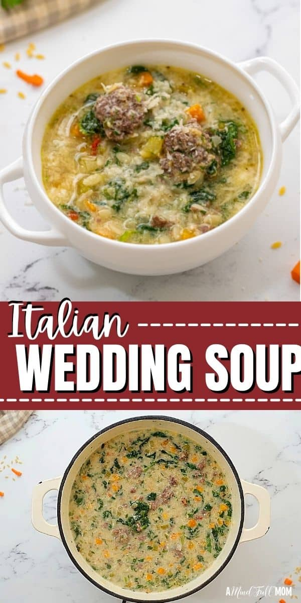 his classic recipe for Italian Wedding Soup is a hearty soup made with a rich, flavorful broth, tender meatballs, greens, and pasta.